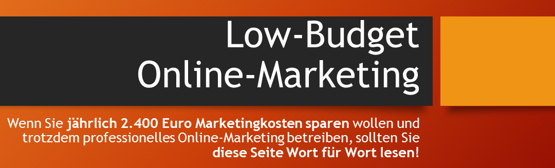 Low Budget Online Marketing